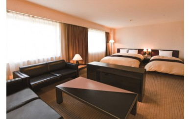 大垣フォーラムホテル ペア宿泊券(デラックスツインルーム) 1泊2食付き(朝食・夕食)