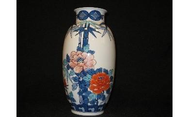 H182伊万里鍋島焼竹梅小花瓶