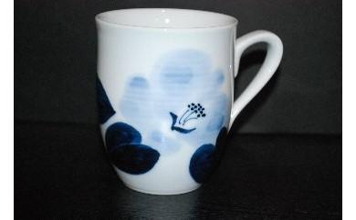 H177鶴太郎工房椿マグカップ