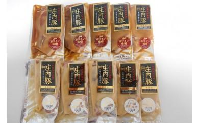 【B-105】庄内豚ロース赤ワイン&大吟醸粕味噌漬けセット