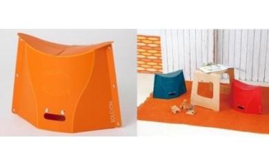 折りたたみイスPATATTO300×4脚(オレンジ)