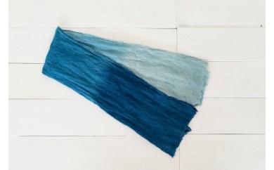 IBB07 空海藍オーガニックヘンプ手拭い iBB 寄付額18,000円
