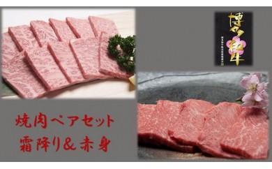A381 博多和牛・焼肉ペアセット(霜降り&赤身) 500g×2