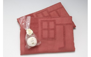 【A805】庄内町ギャラリー温泉町湯オリジナルバスタオル&無添加石鹸