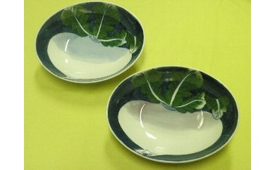 H189蕪絵ペアカレー皿(2枚セット)