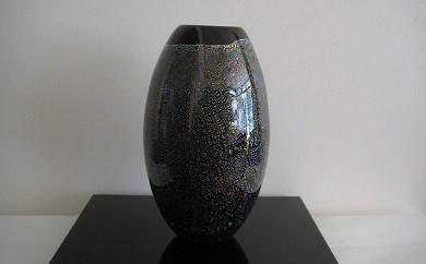 30E004 ガラスの花器「黒光」