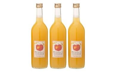 【A067】 【期間延長・数量限定】<おおたリンゴ園>搾りたてリンゴジュース 3本セット