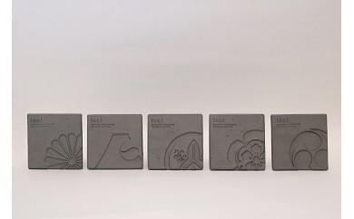 C0-185 kawara coaster(kamon)×5