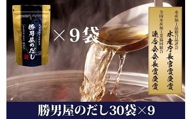 E0-100 水産庁長官賞受賞勝男屋のだし30袋×9