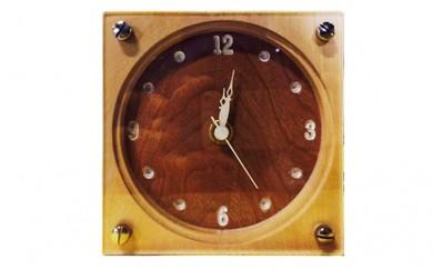 [№5665-0249]木製置時計