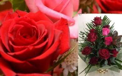 1 「出荷量日本一」自慢のバラを組み合わせた「アレンジフラワー」または「花束」