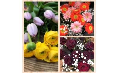F096.地元の花屋さんオススメの花束