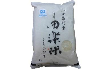 29D-029 「田楽米」コシヒカリ2kg袋入り 4個セット【10,000pt】