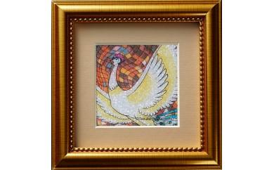 ジュエリー絵画(R)「火の鳥2」(SSサイズ)