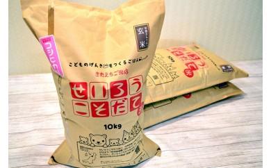聖籠産玄米コシヒカリ 30kg