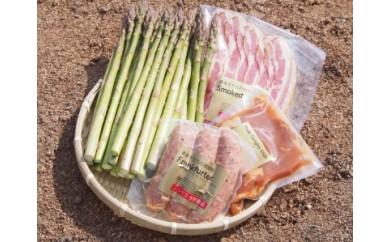 31 浅野農場夏アスパラと豚肉加工品セット