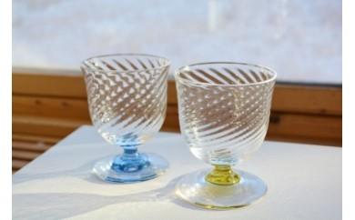 70 スウェーデンガラスセット(スパイラル)