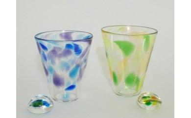 69 スウェーデンガラスセット(グラス、箸置き)