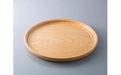 C16 木製 薄盆 欅