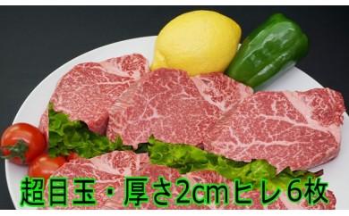 H-001 ★超目玉お礼品A★九州産黒毛和牛ヒレステーキ6枚