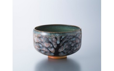 E25 布引焼抹茶椀〈桜〉
