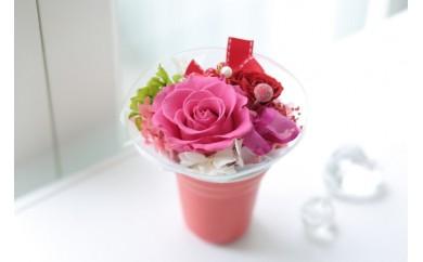 【空気をキレイにするお花】赤い贈り物 プリザーブドフラワー 光触媒