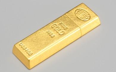 [№5809-1357]金沢箔一 ゴールドインゴット USBメモリー
