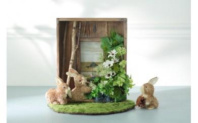H0004 ウサギのフォトスタンド