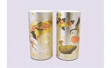 №309 美濃白川茶 彫刻缶2本セット