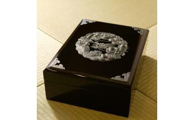 11 仙台民芸小箪笥文箱(ふばこ)木地呂漆塗