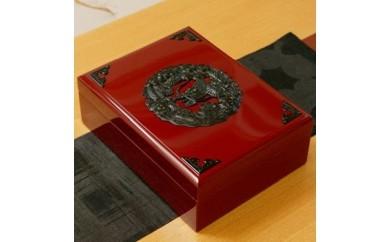 12 仙台民芸小箪笥文箱(ふばこ)朱色漆塗り