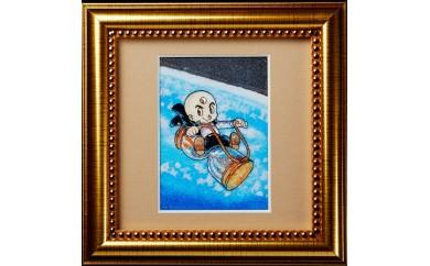 ジュエリー絵画(R)「三つ目がとおる1」(SSサイズ)