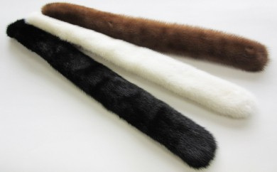 [№5910-7001]0037毛皮の宝石 SAGAミンク使用ミニチョーカー ホワイト