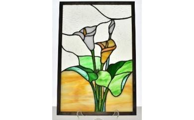 K-007 ステンドグラス(カラーの花)