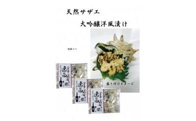 BJ40 サザエ大吟醸洋風漬け3パックセット(桐箱入り)【50p】
