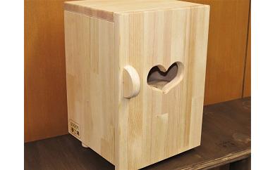 D-088 手作り木製 ままごと冷蔵庫 玉子立てが外から覗ける!