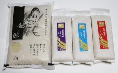 [№5644-0271]池田町産 龍の瞳・ハツ・コシ・ミルキー 4点セット