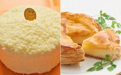 [№5890-0082]さろまレアチーズケーキとアップルパイセット