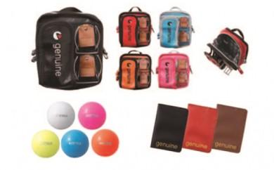 [№5749-7028]0186選べるカラー ジェニュイン ポーチ(赤)・ボール(ピンク)・カードホルダー(黒)他6点セット