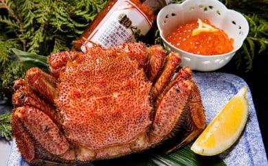 [№5809-1404]オホーツク毛蟹&いくら 醤油漬けセット
