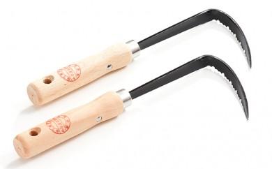 [№5650-0140]草刈り鎌セットH(草取カギカマ左手用2本)