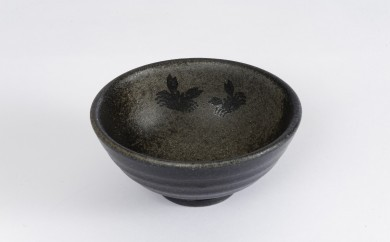 【A110】珠洲焼(かに文ごはん茶碗)