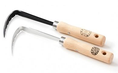 [№5650-0137]草刈り鎌セットE(草取カギカマ右手用1本・ステンレスカギカマ1本)