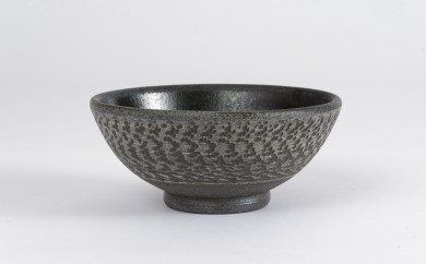 【A111】珠洲焼(飛びカンナお茶漬け碗)