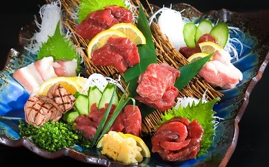 G-18 料理人厳選!九州産桜肉&馬刺し盛り合わせセット