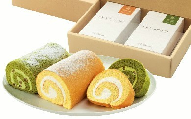 【D-3】ロールケーキと抹茶ロールケーキの詰め合わせセット