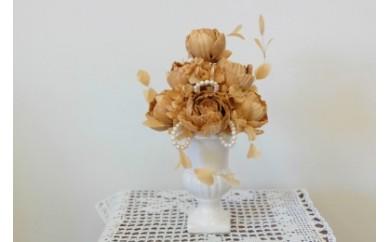 TKB07 ウッドフラワー アレンジメントL(ヒノキ&マツ) つちかべ花店 寄付額36,000円