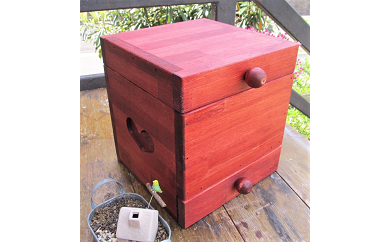 C-067 手作り木製 姫鏡台・メイクボックス
