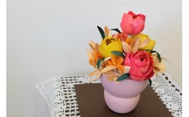 TKB05 ウッドフラワー プチ・アレンジメント(カラーミックス) つちかべ花店 寄付額18,000円