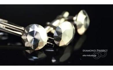 E-18_犬山ブランド ダイヤモンドチタンカフス&タイピンセット